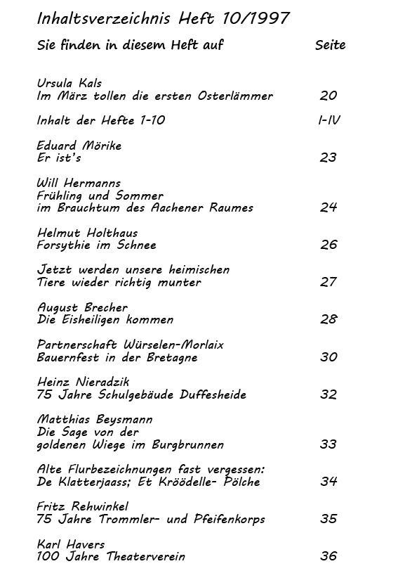 Inhaltsverzeichnis Heft 10/1997-2