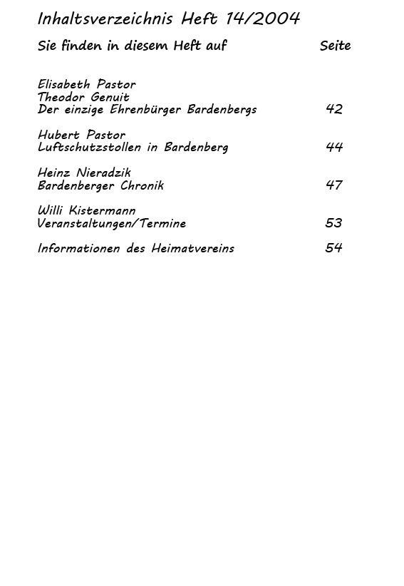 Inhaltsverzeichnis 14/2004_2