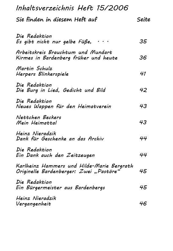 Inhaltsverzeichnis Heft 15/2006-2