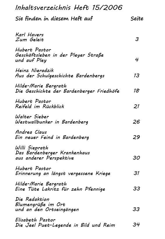 Inhaltsverzeichnis Heft 15/2006