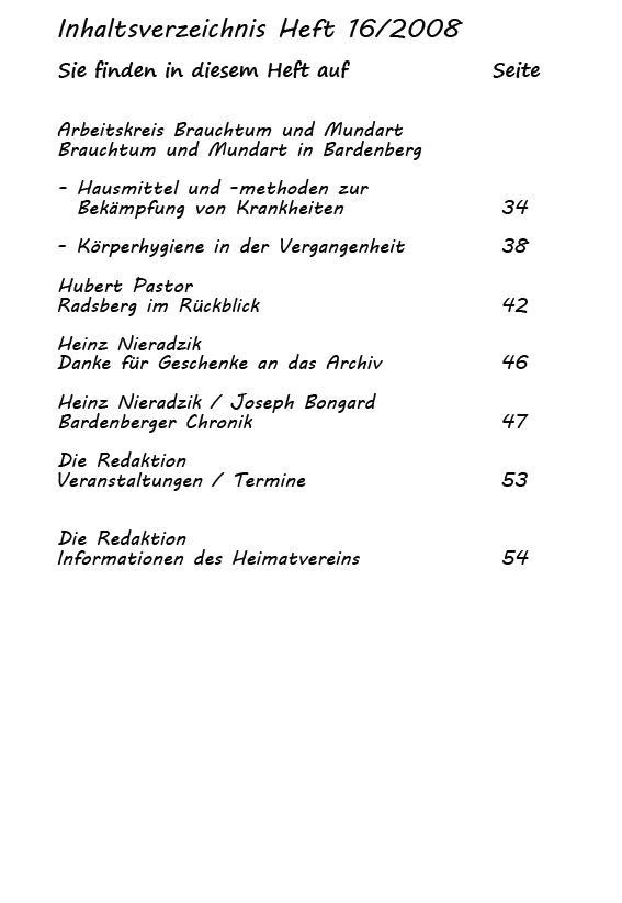 inhaltsverzeichnis 16/2008-2