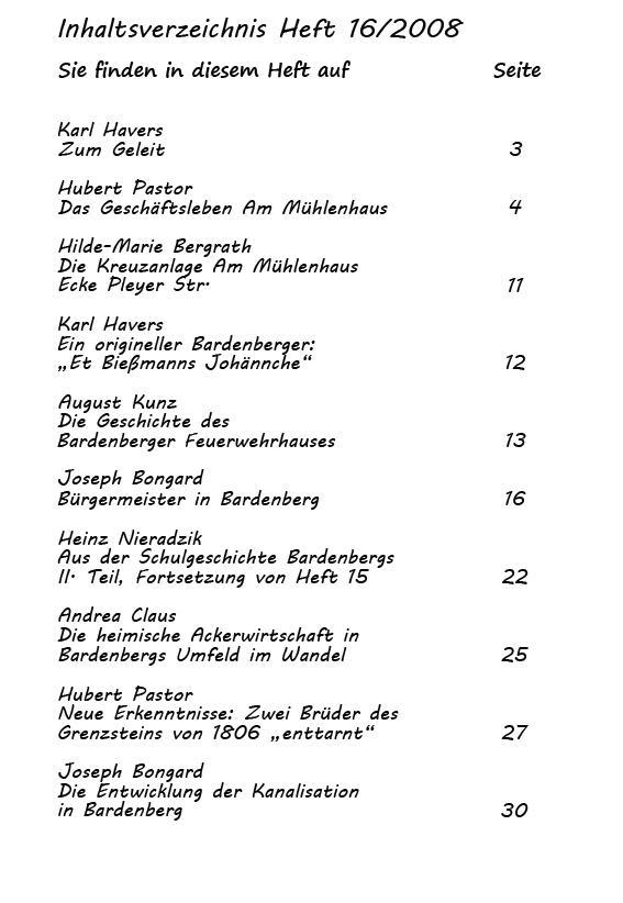 Inhaltsverzeichnis Heft 16/2008