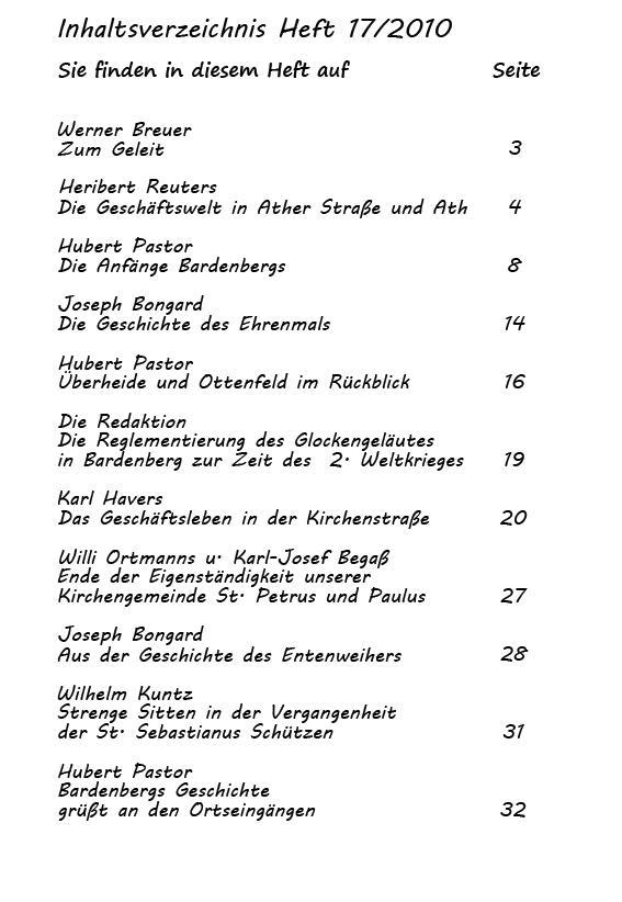 Inhaltsverzeichnis Heft 17/2010