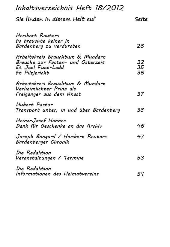 Inhaltsverzeichnis Heft 18/2012-2