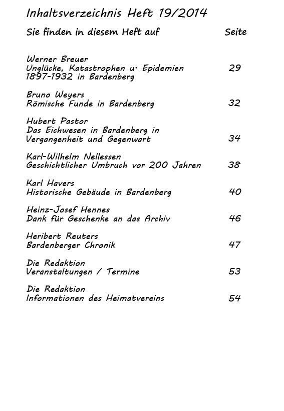 Inhaltsverzeichnis Heft 19/2014-2