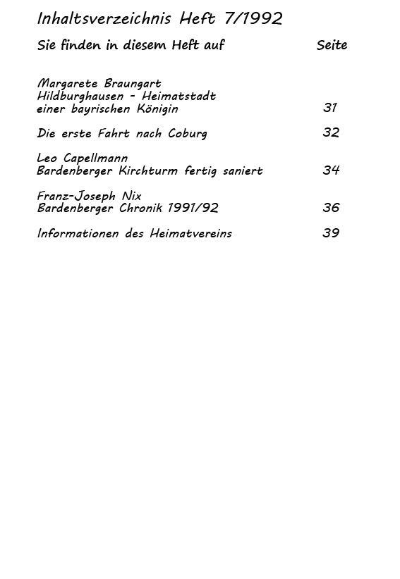 Inhaltsverzeichnis Heft 7/1992-2