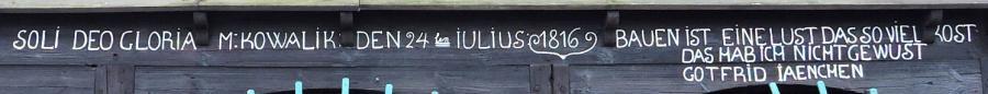 Inschrift am Umgebindehaus
