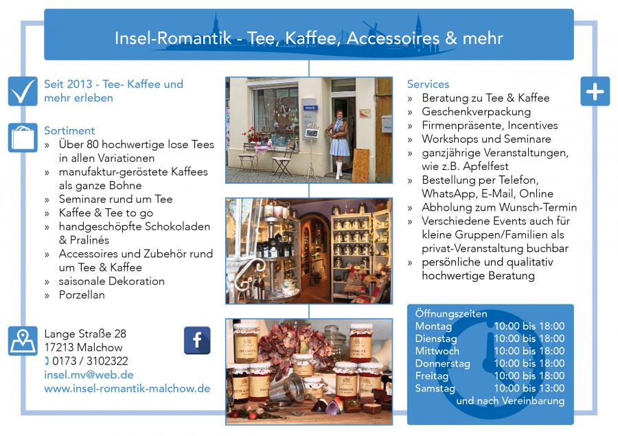 Insel Romantik Tee Kaffee Malchow