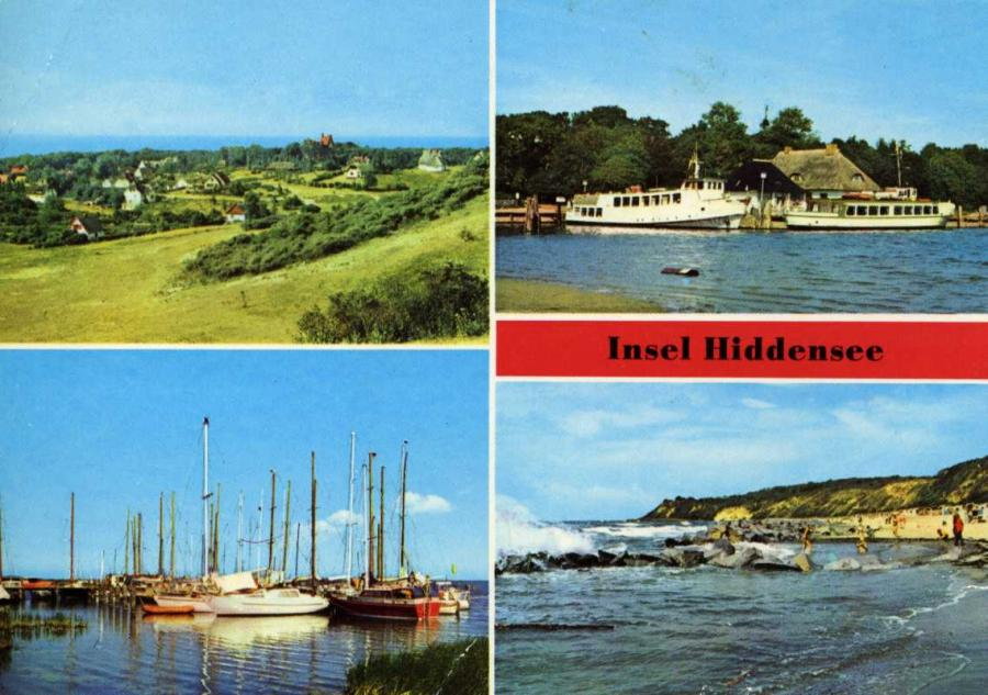 Insel Hiddensee Blick auf Kloster