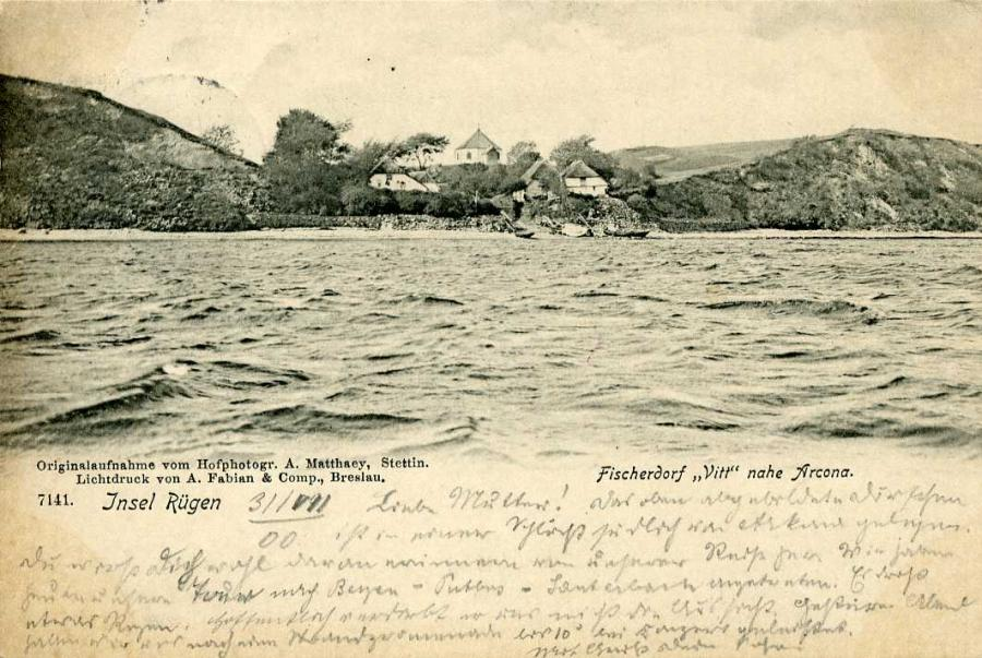 Insel Rügen Fischerdorf Vitt nahe Arcona 1900