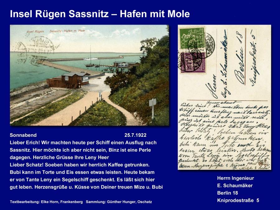 Insel Rügen Sassnitz – Hafen mit Mole