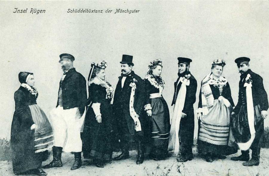 Insel Rügen Schüddelbüxtanz der Mönchguter