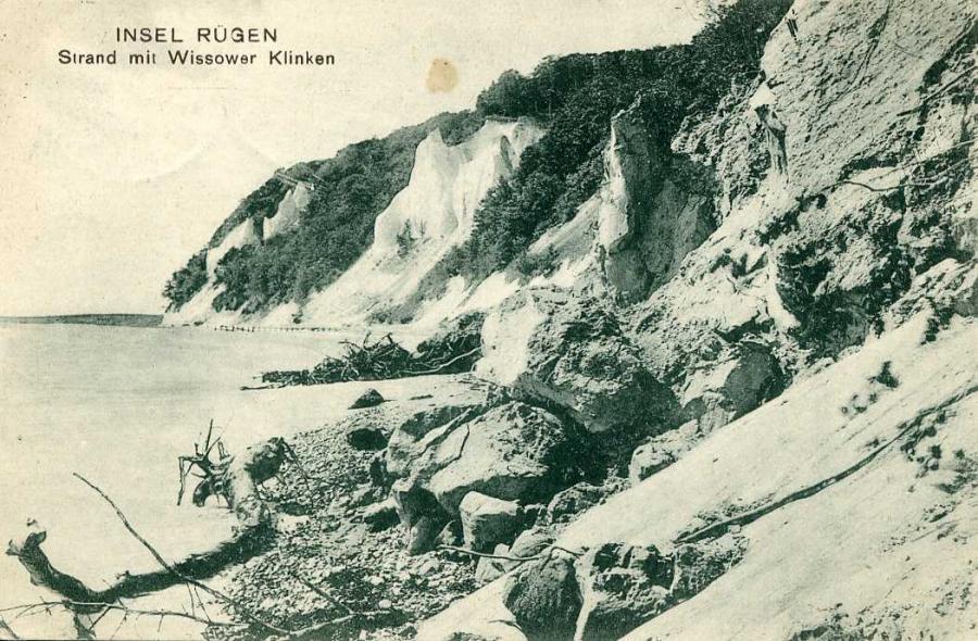 Insel Rügen Strand mit Wissower Klinken