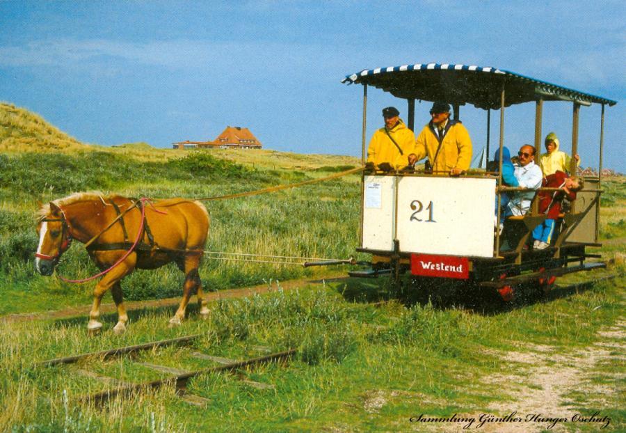 Insel Spiekeroog-Museumspferdebahn
