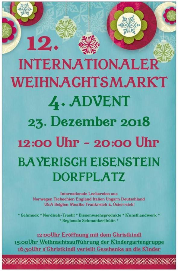 Plakat Internationaler Weihnachtsmarkt 2018