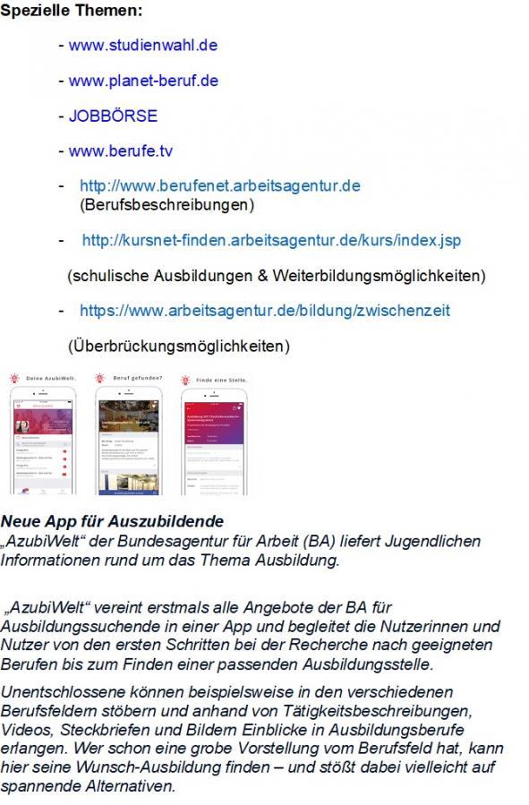 Internetauftritt AfA Seite 3