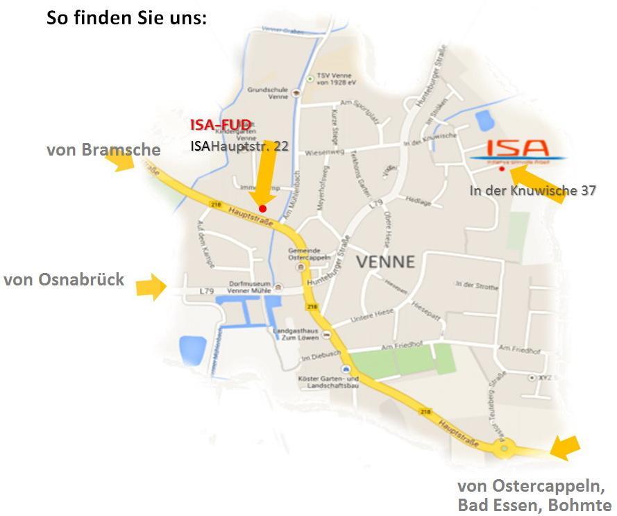 ISA in Venne mit 2 Standorten