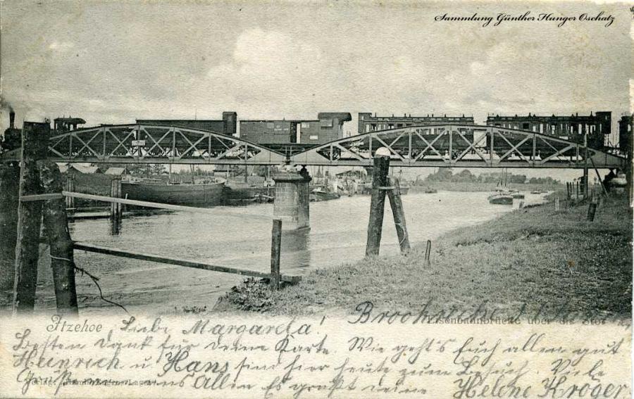 Itzehoe Eisenbahnbrücke über die Stör