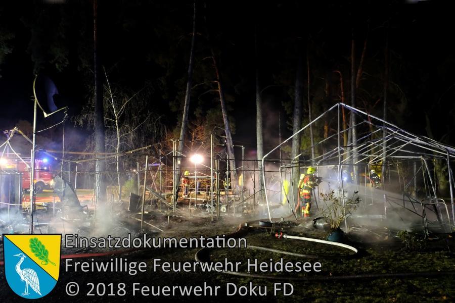 Einsatz 31/2018 | Campingplatzbrand | Gräbendorf Weg zum Hölzernen See | 10.04.2018