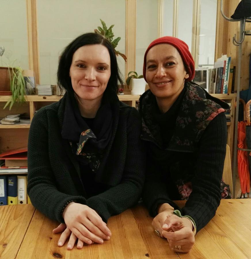 Jenny Pöller und Nouria Asfaha