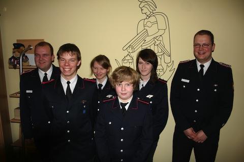 Foto von der Jahreshauptversammlung der Jugendfeuerwehr Borgwedel