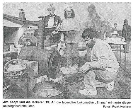"""Jim Knopf und die leckeren 13: An die Lokomotaive """"Emma"""" erinnerte dieser selbstgebastelte Ofen"""