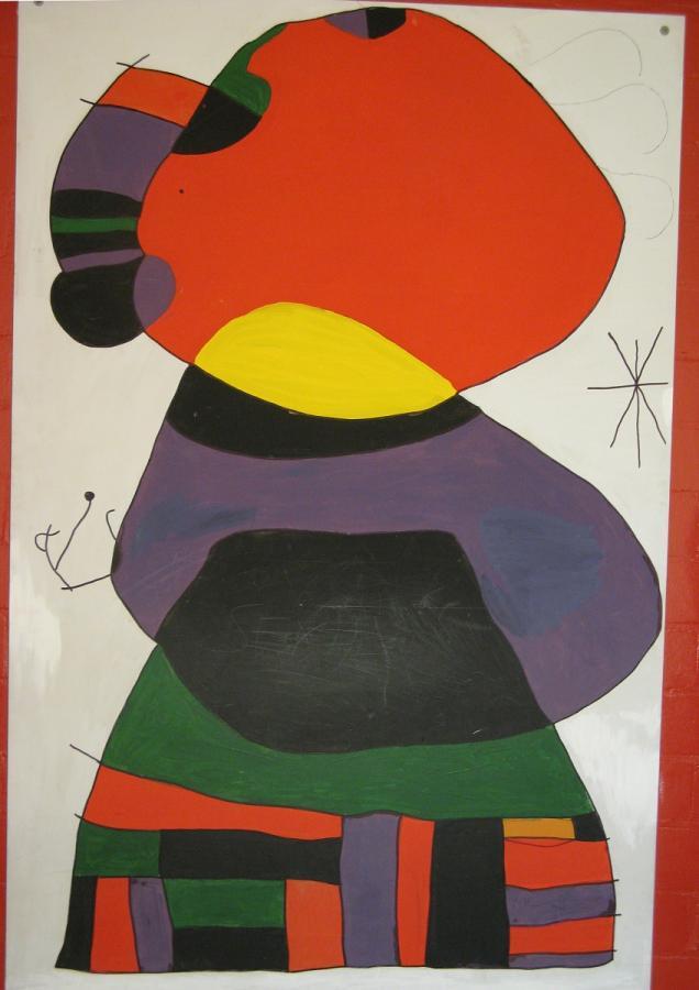 Joan Miró, Frau mit drei Haaren
