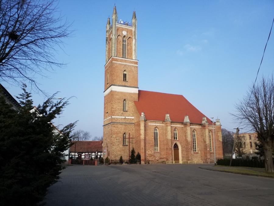 Johanniter Ordenskirche in Sonnenburg, heute Pfarrkirche der Heiligen Mutter Gottes zu Tschenstochau in Słońsk (Polen)