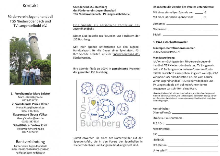 JSG Buchberg Flyer Innenseite