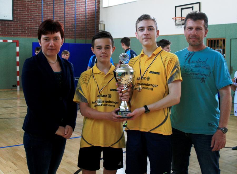Pokal verteidugt: Niklas und Leon