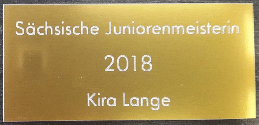 Juniorensieger-Pokal-Schild 2018