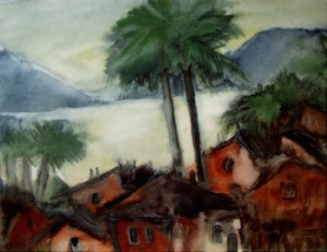 Jurtz_Rote Häuser am Lago Maggiore