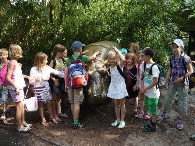 Gleich nochmal ein Gruppenbild mit Flusspferd!