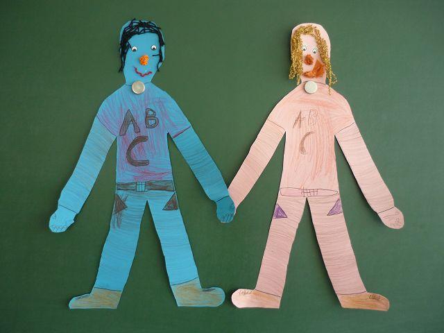 Zwei Freunde - gestaltet von Luise und Tyler aus der Klasse 2c