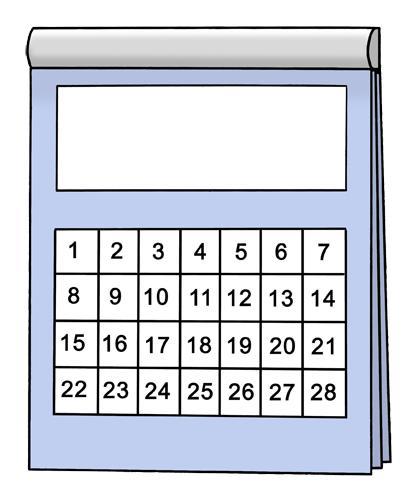 Kalender 28 Tage