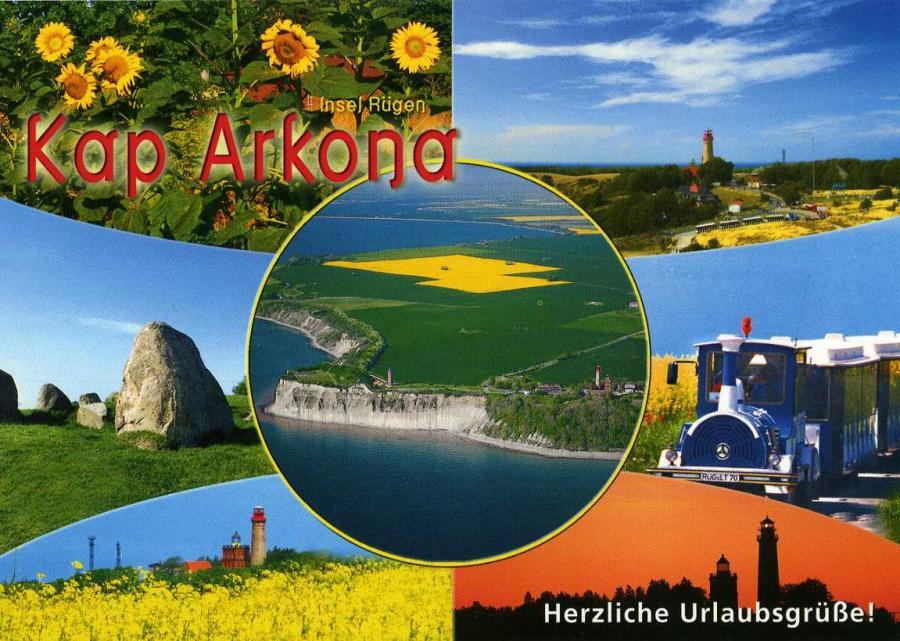 Kap Arkona Herzliche Urlaubsgrüße