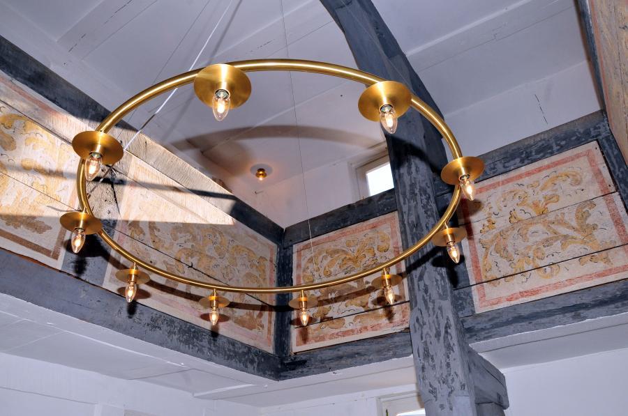 Kapelle Malkomes freigelegte Malereien (c) Monika Greb
