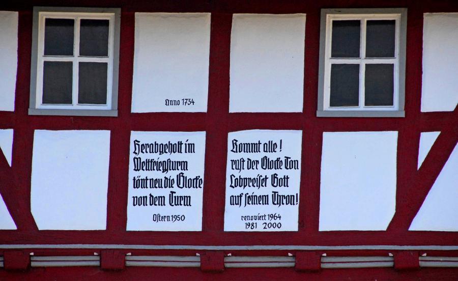 Kapelle Malkomes Inschrift (c) Monika Greb