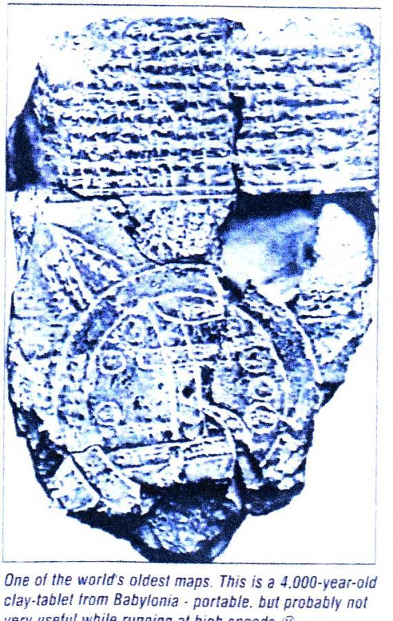 Karte von Babylonien vor 4000 Jahren