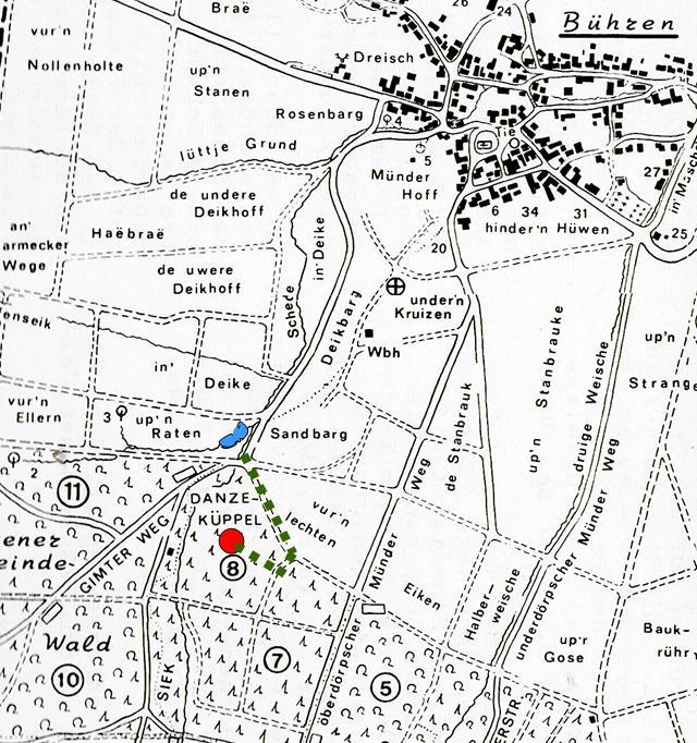Karte Danzeküppel