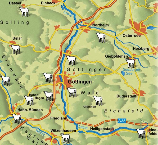 Karte Leineschafe