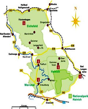 Karte Naturpark Eichsfeld