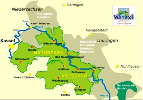 Karte Naturpark Meißner