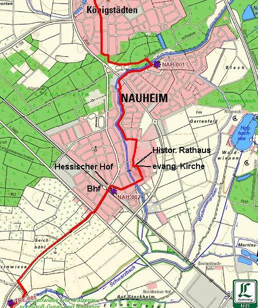 Lutherweg durch Nauheim