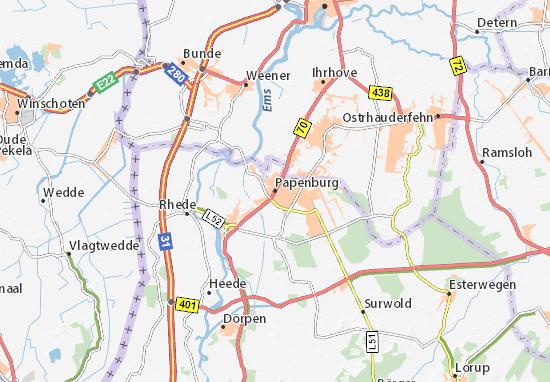 Karte Papenburg