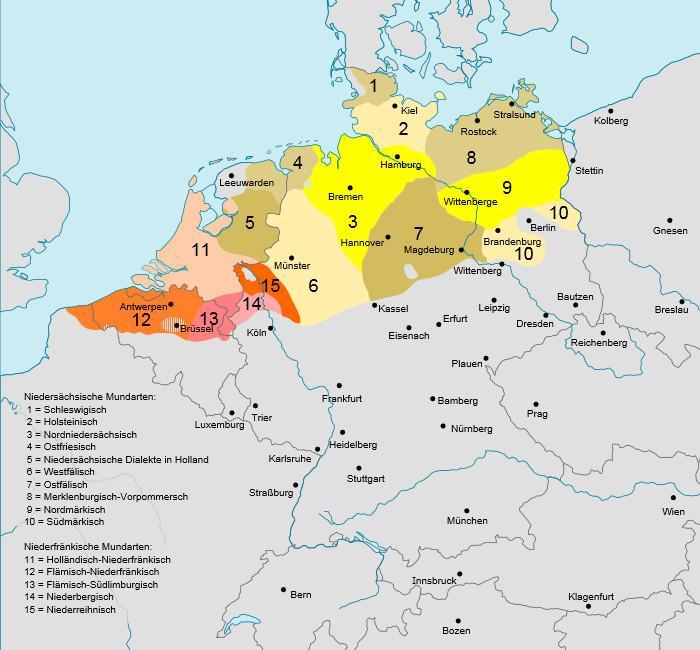 Karte Sprachgebiete