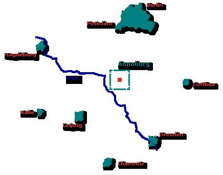 Lage von Annaburg