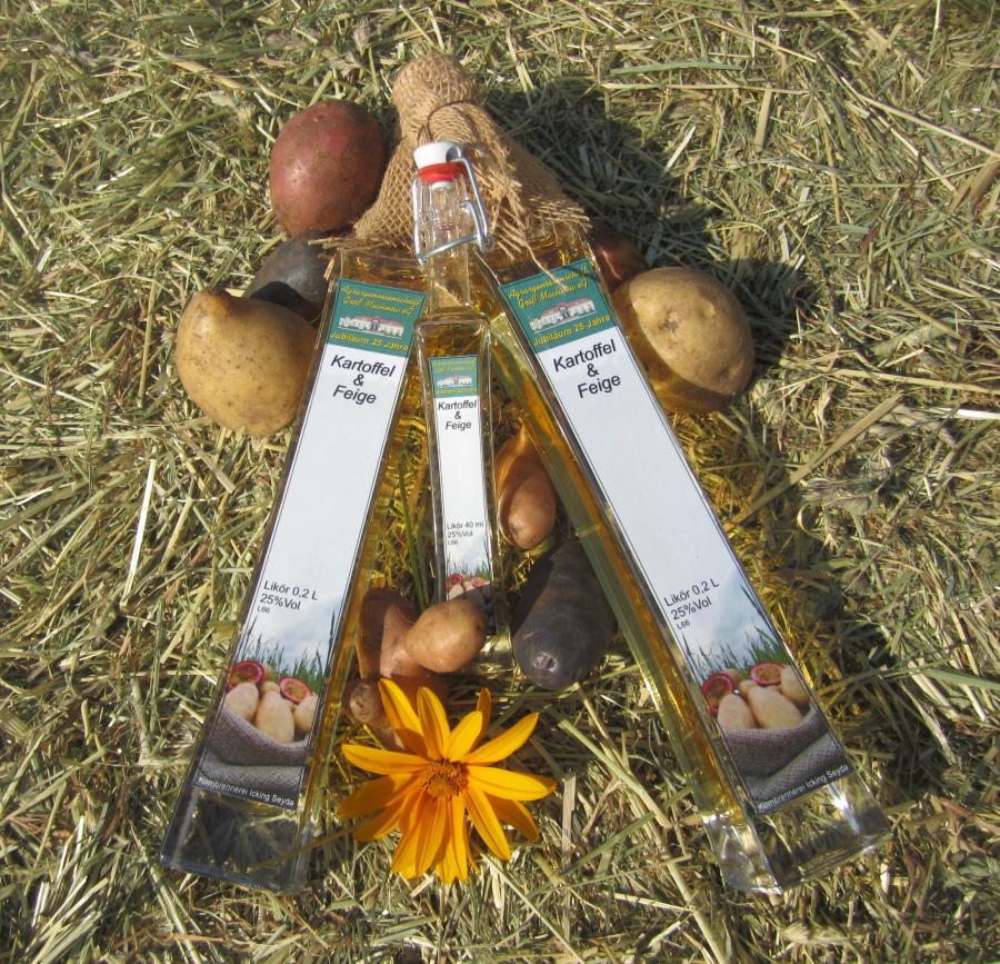 Kartoffellikör zum 25. Betriebsjubiläum