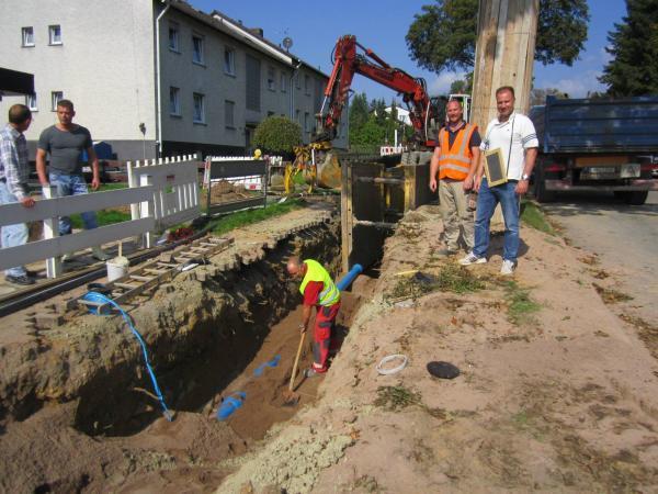 Foto: Erneuerung der Kanal- und Wasserleitungen in der Kasseler Straße im Rahmen des 2. Bauabschnitts