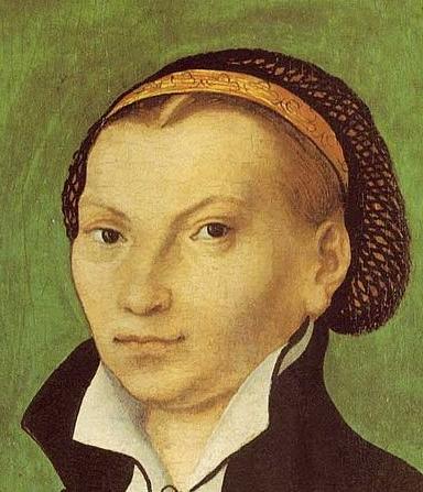 Katharina-v-Bora, Gemälde von Lucas Cranach d.Ä